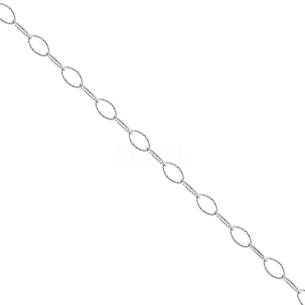 Bransoletka na nogę srebrna delikatny łańcuszek