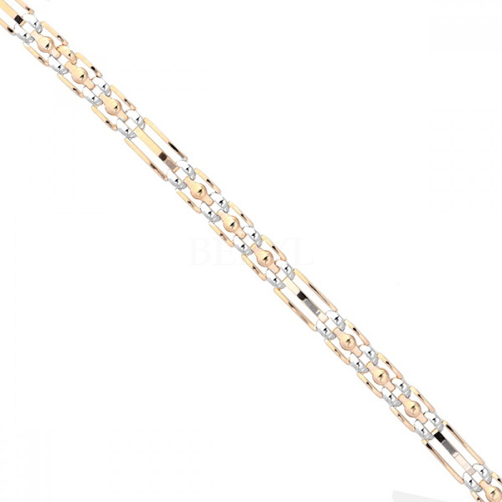 Bransoletka srebrna pozłacana elegancka błyszcząca satynowa