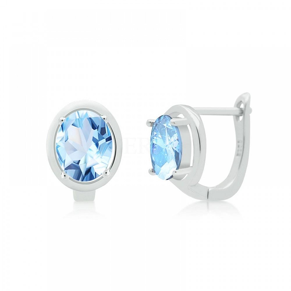 Kolczyki Blue Topaz Srebro 925