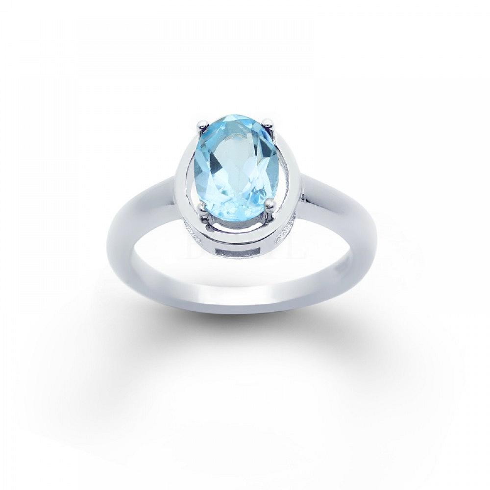 Pierścionek Blue Topaz Srebro 925