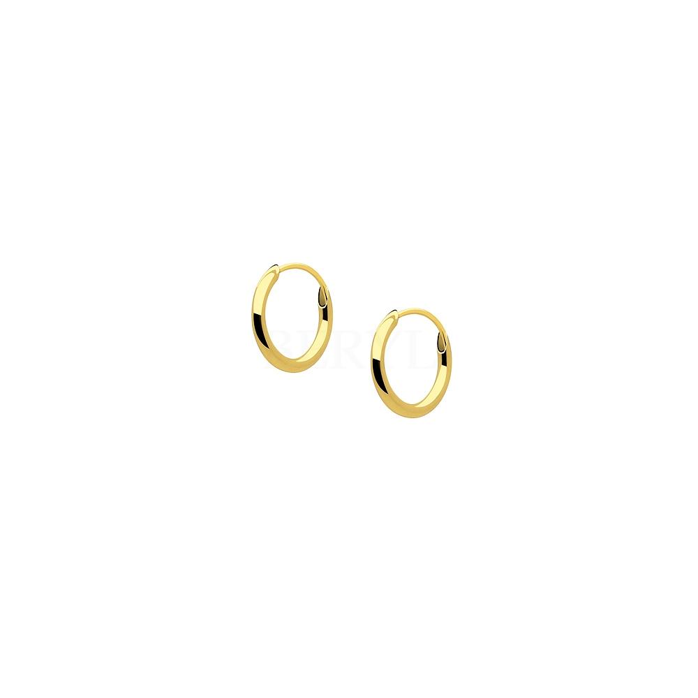 Kolczyki złote kółka 10 mm