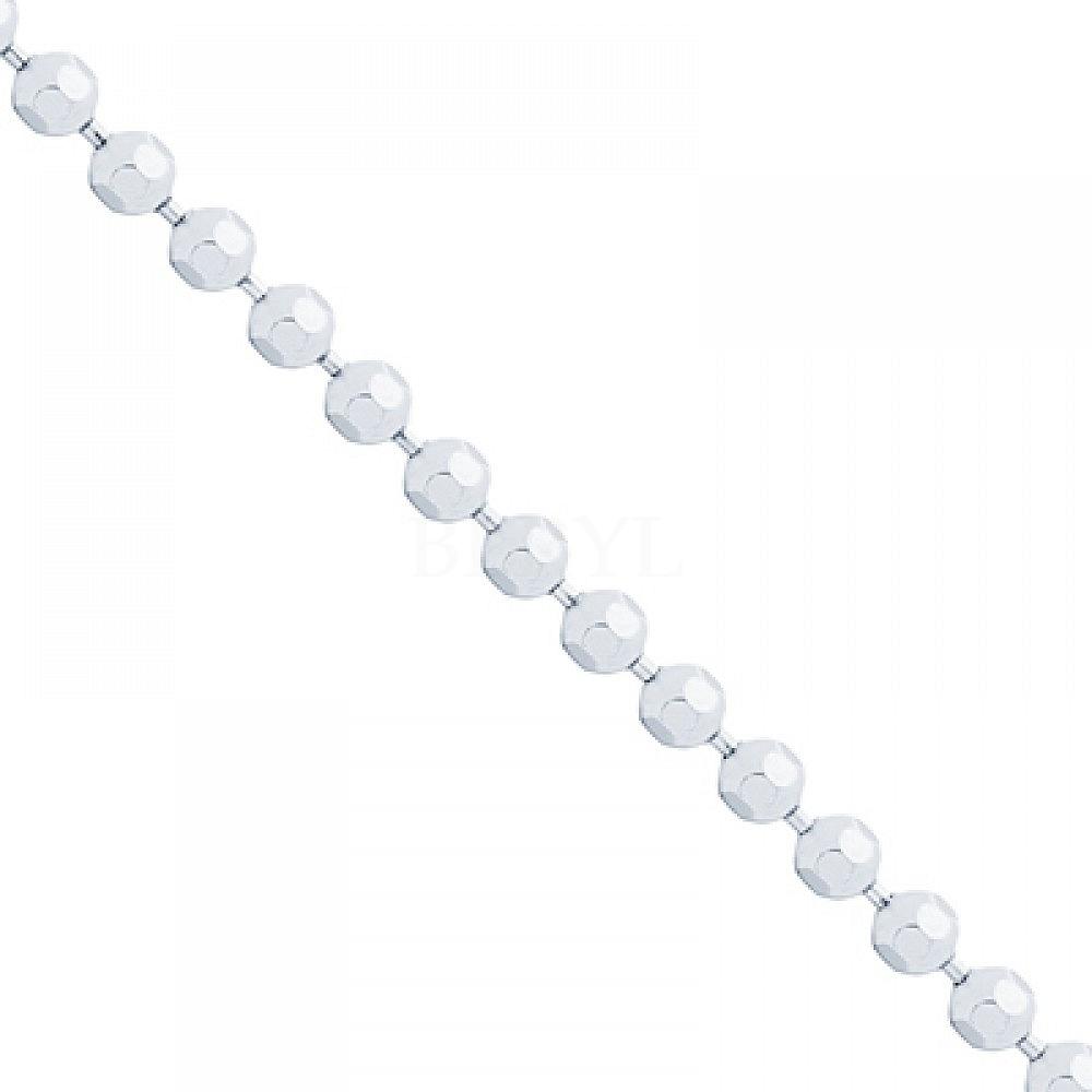 Łańcuszek srebrny 80 cm - splot kulkowy