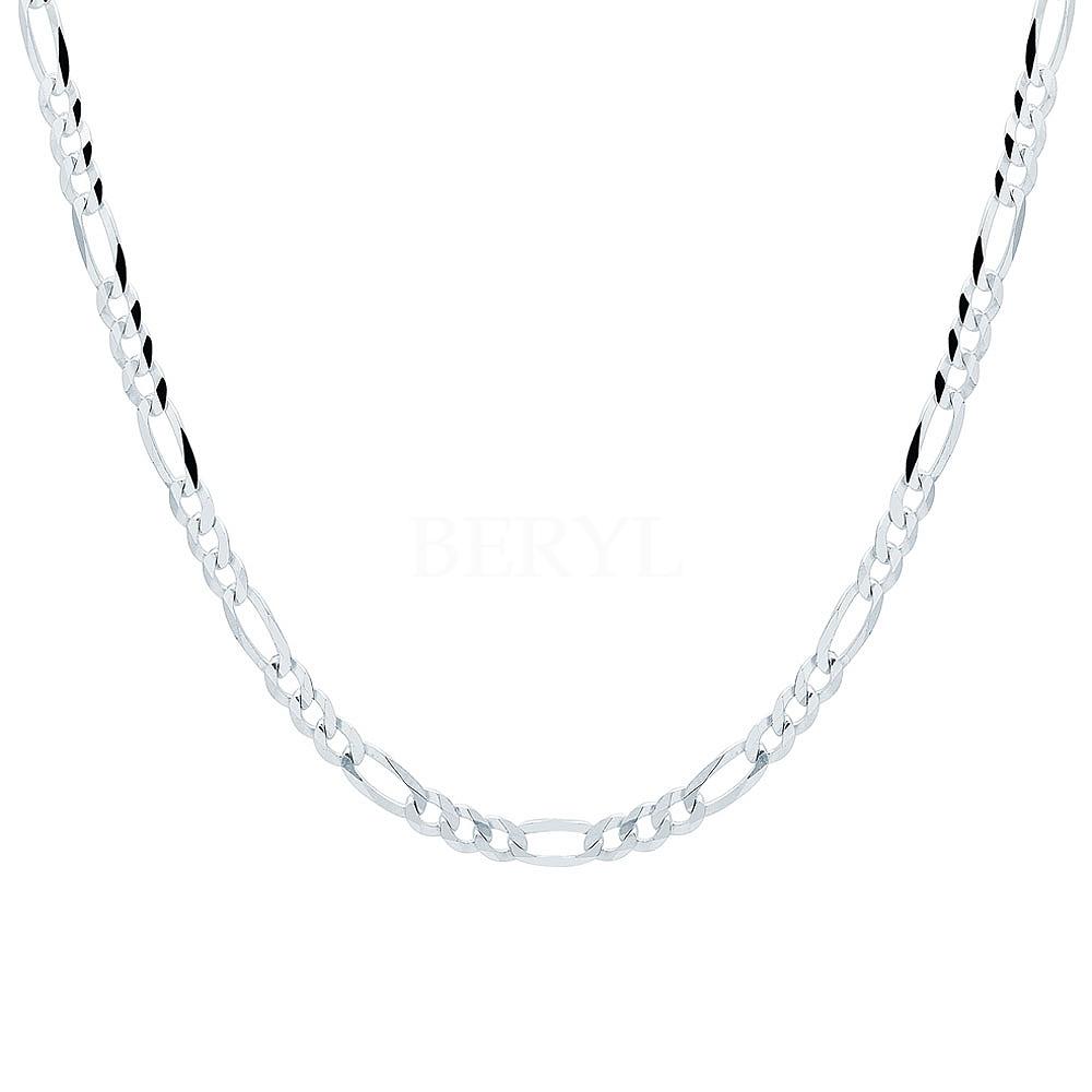 Łańcuszek męski srebrny 50 cm - splot figaro