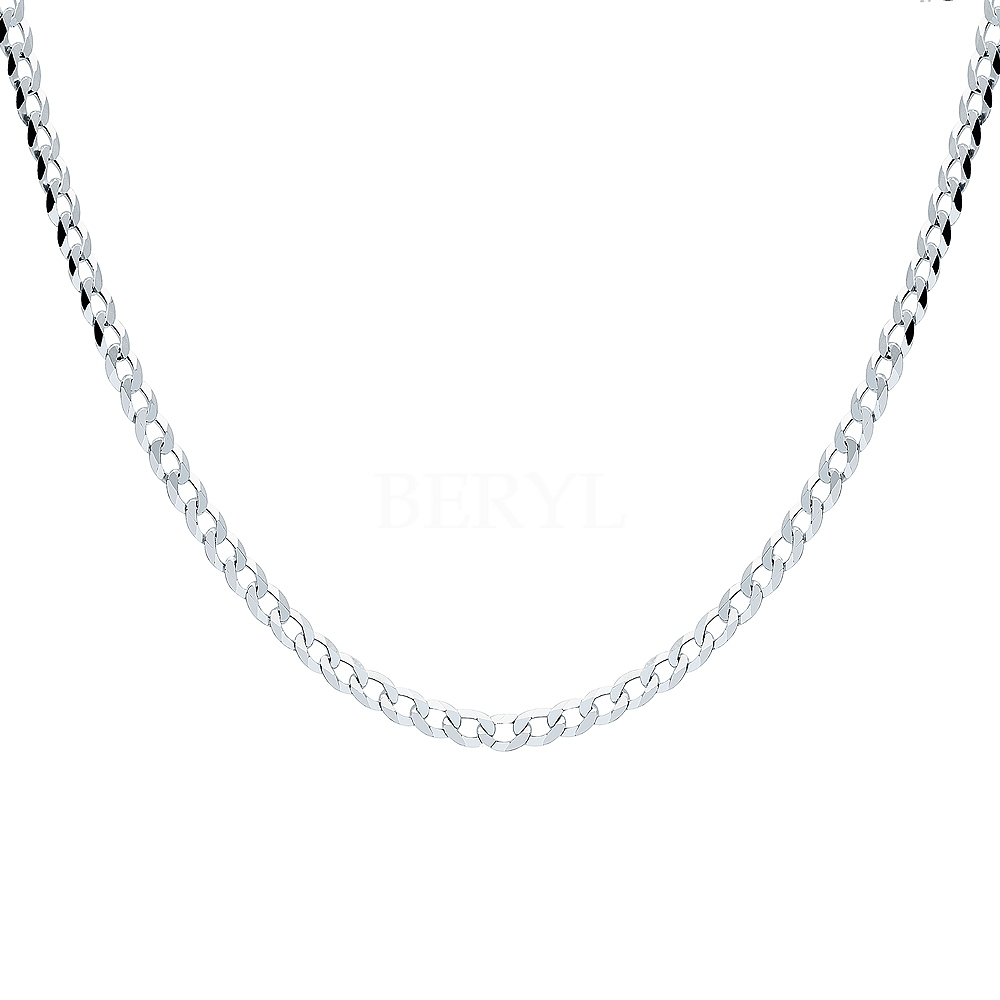 Łańcuszek męski srebrny 50 cm - splot pancerka