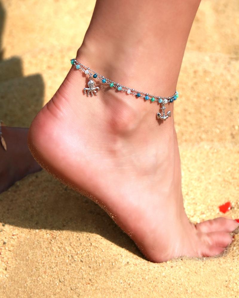 Bransoletka na nogę Srebro 925