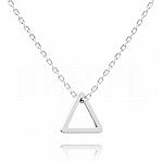 Naszyjnik celebrytka geometryczna srebrna - trójkąt