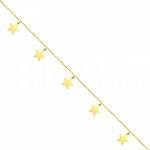 Bransoletka na nogę srebrna pozłacana z gwiazdkami