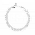 Bransoletka srebrna łańcuch blaszki