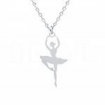 Naszyjnik celebrytka srebrna baletnica