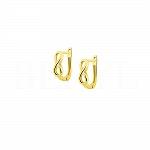 Kolczyki złote ze znakiem nieskończoności angielskie zapięcie