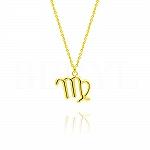 Naszyjnik znak zodiaku panna srebrny pozłacany