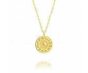 Znak zodiaku panna naszyjnik srebrny pozłacany