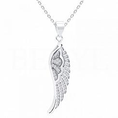 Zawieszka srebrna skrzydło anioła z cyrkonią