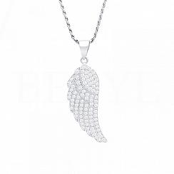Zawieszka srebrna skrzydło z cyrkonią