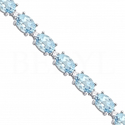 Bransoletka Blue Topaz Srebro 925