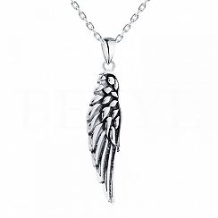 Zawieszka srebrna skrzydło oksydowane