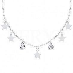 Choker Gwiazd Srebro 925
