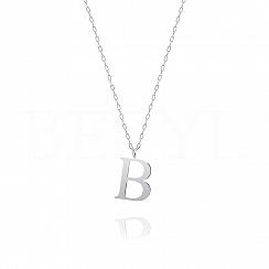 Naszyjnik z literką B srebrny 2 cm