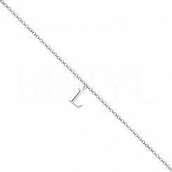 Bransoletka na nogę srebrna z literką L