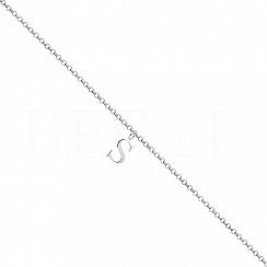 Bransoletka na nogę srebrna z literką S