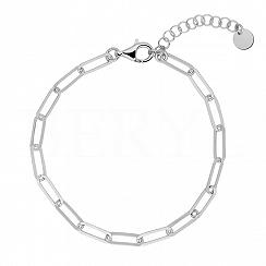 Bransoletka łańcuch srebrna gładka