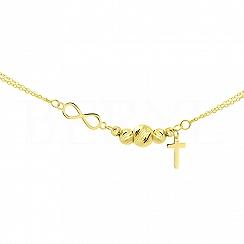 Bransoletka Złoto z Krzyżem