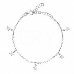 Bransoletka srebrna z gwiazdkami