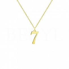 Naszyjnik z cyfrą 7 Srebro 925