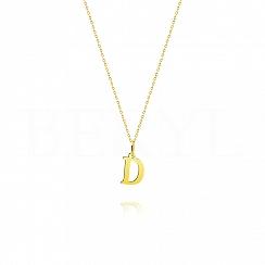Złoty naszyjnik z literką D