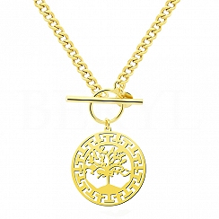 Naszyjnik Łańcuch Drzewo życia Srebro 925