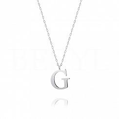 Naszyjnik z literką G srebrny 2 cm