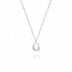 Naszyjnik z literką G srebrny 1 cm