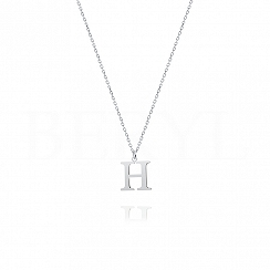 Naszyjnik z literką H srebrny 1 cm