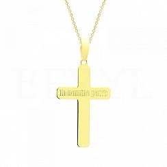 Zawieszka Krzyżyk Srebro 925 Pozłacana 24 karatowym złotem