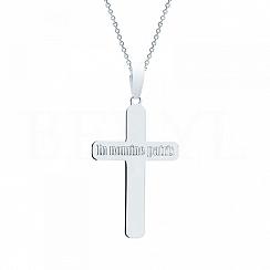 Zawieszka Krzyż Srebro 925 Powlekana Rodem