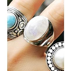 Pierścionek Kamień Księżycowy Srebro 925