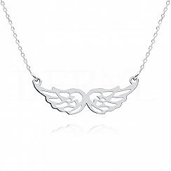 Naszyjnik celebrytka srebrna ze skrzydłami