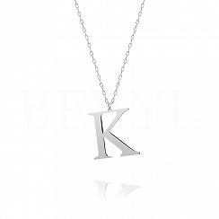 Naszyjnik z literką K srebrny 3 cm