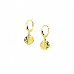 Kolczyki Moneta Srebro 925