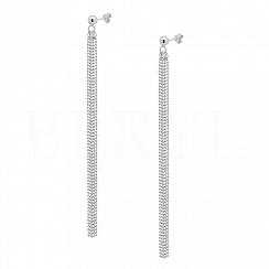 Kolczyki wiszące linki srebrne długie