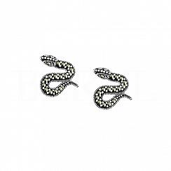 Kolczyki węże srebrne z markazytami