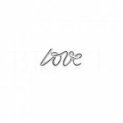 Kolczyk srebrny LOVE