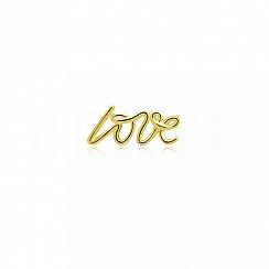 Kolczyk srebrny pozłacany LOVE