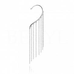 Nausznica srebrna z wiszącymi łańcuszkami