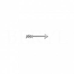Kolczyk srebrny strzała amora