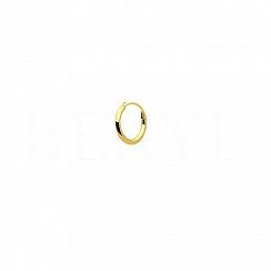 Kolczyk złote kółko 10 mm