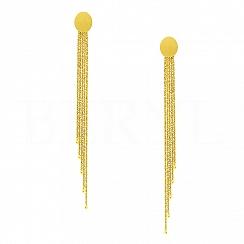 Kolczyki długie wiszące błyszczące brokatowane łańcuszki srebro pozłacane 24 karatowym złotem