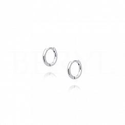 Kolczyki srebrne małe kółeczka na zapięciu angielskim 11 mm