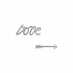 Kolczyki srebrne LOVE ze strzała amora