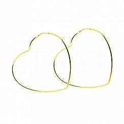 Kolczyki srebrne pozlacane duże serca